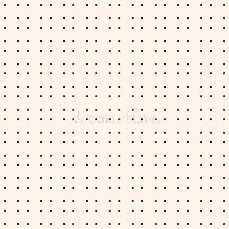 Modèle sans couture minimaliste avec de petites places, texture d'art de pixel illustration stock