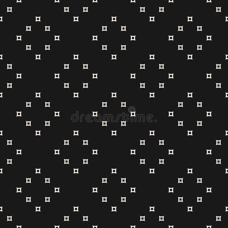 Modèle sans couture minimaliste de vecteur avec le petit contour illustration stock