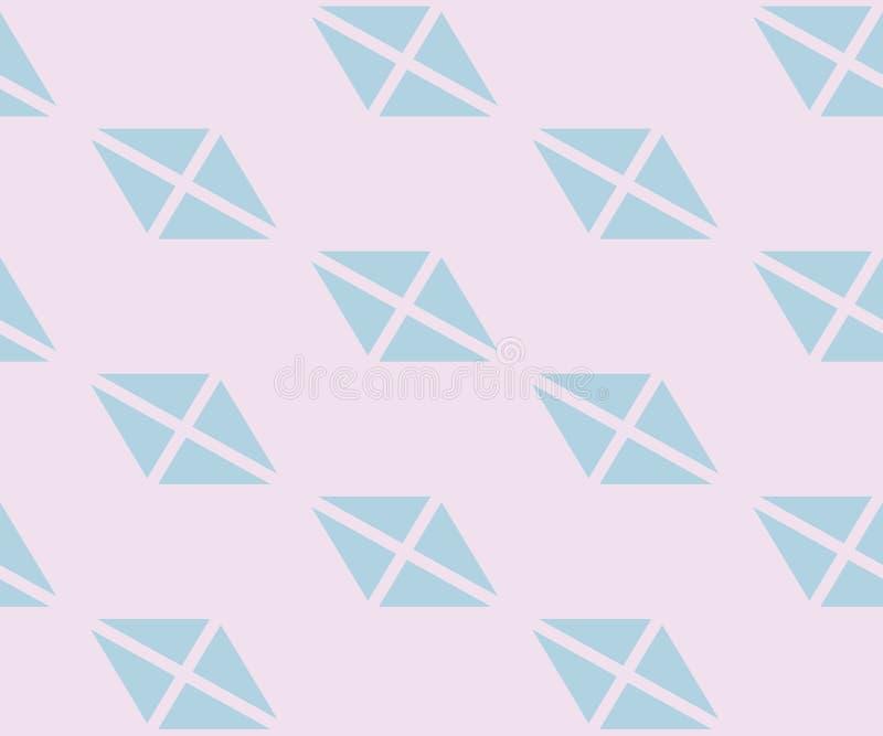 Modèle sans couture minimaliste géométrique d'abrégé sur vecteur avec des triangles, losanges illustration de vecteur