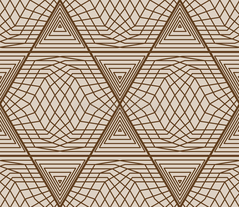 Modèle sans couture net de triangle de l'hexagone 6 illustration de vecteur