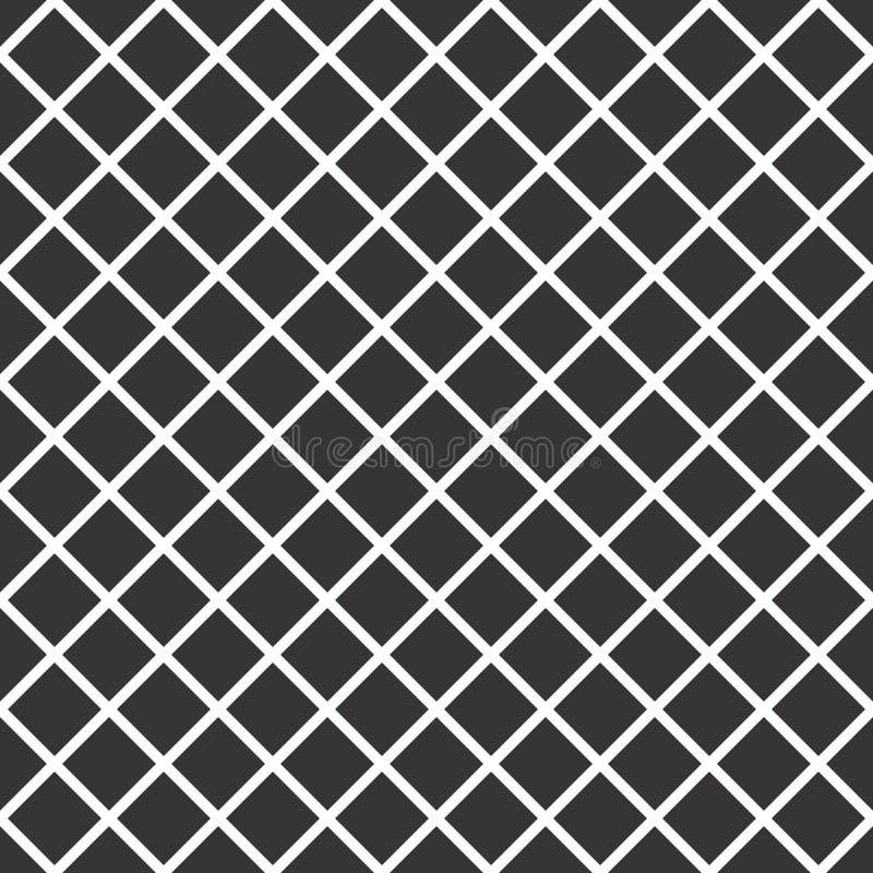 Modèle sans couture noir et blanc de contrôles illustration stock