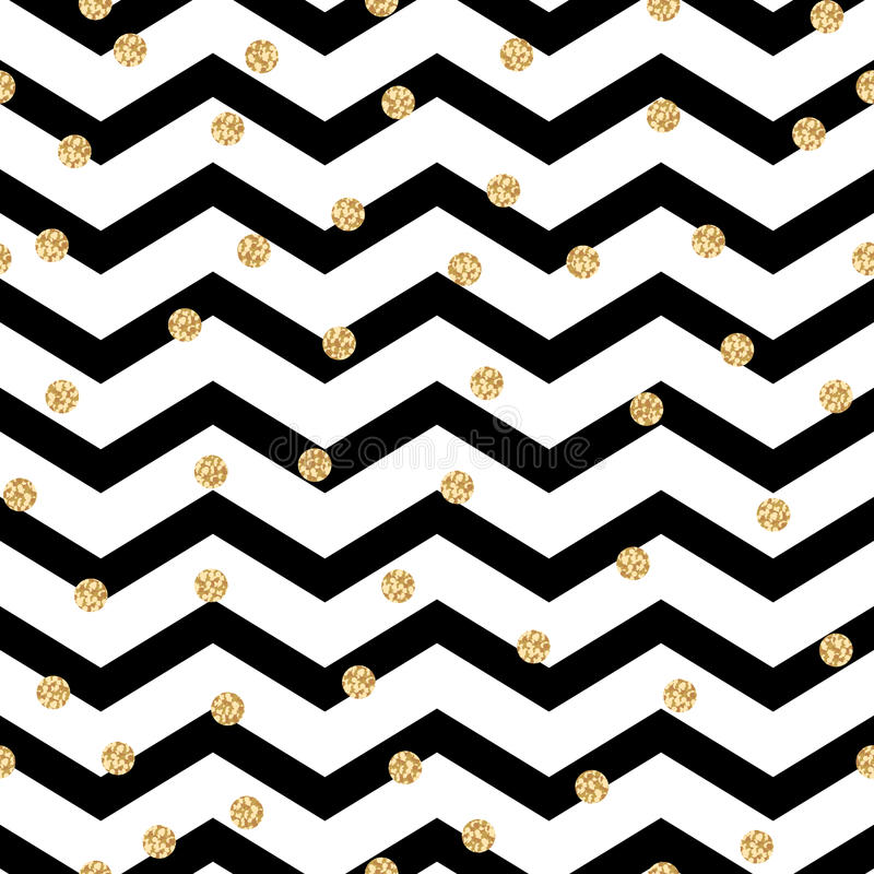 Modèle sans couture noir et blanc de zigzag de Chevron