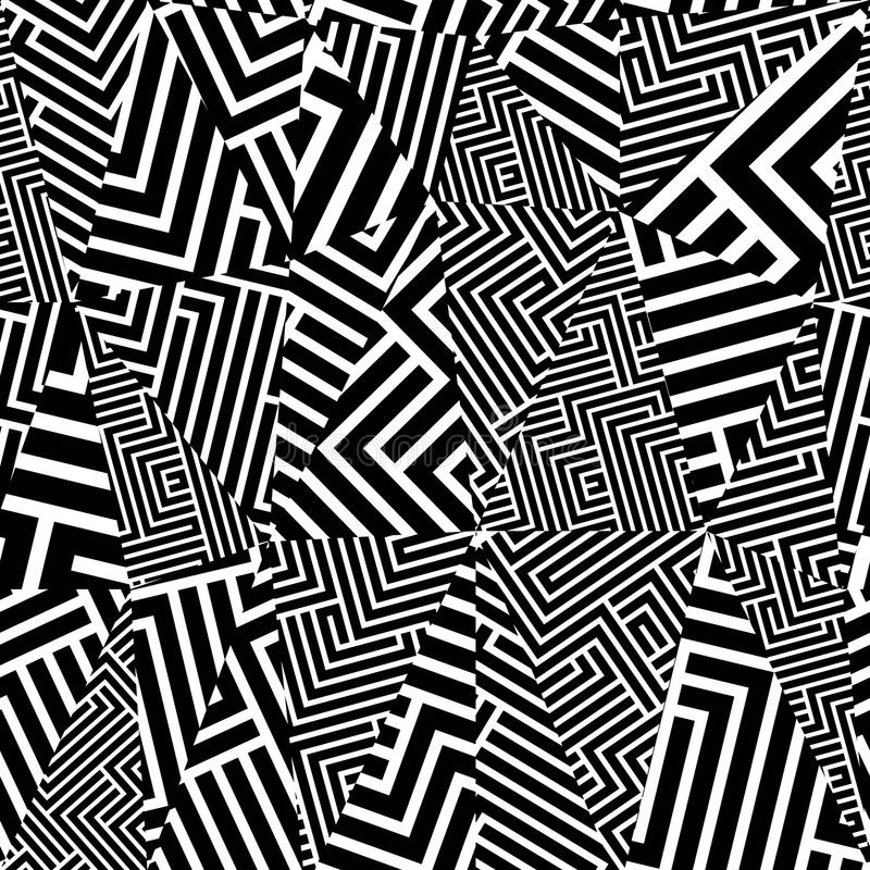 Modèle sans couture optique géométrique illustration de vecteur