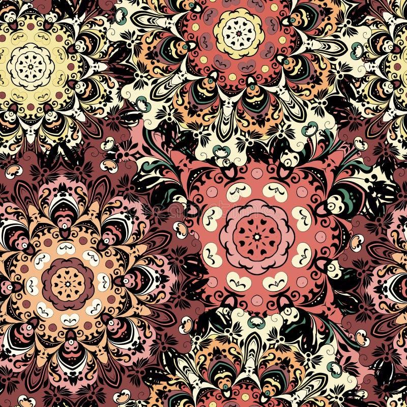 Modèle sans couture oriental de vintage Indien, arabe, tabouret, turc, Japonais, motif floral chinois pour le fond ou illustration libre de droits