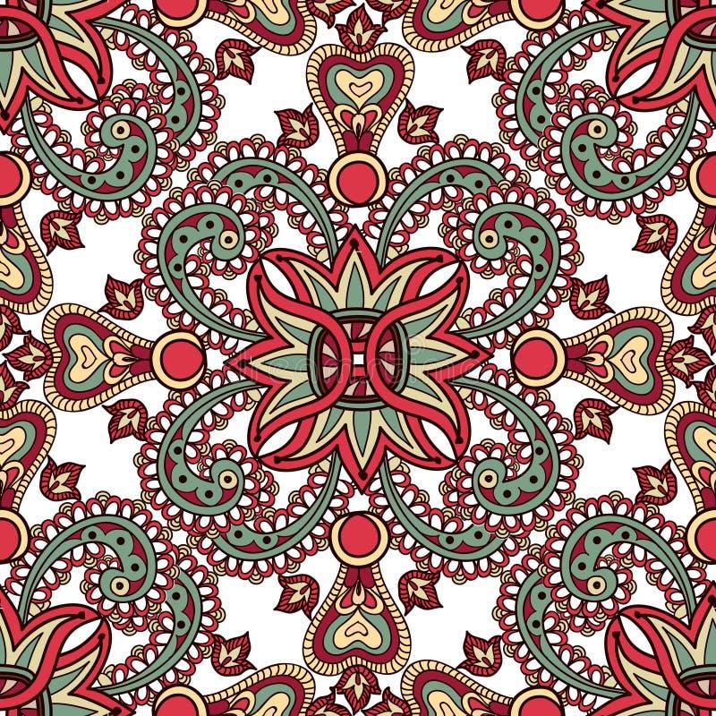 Modèle sans couture oriental floral Fond de fleur Configuration 08 illustration stock