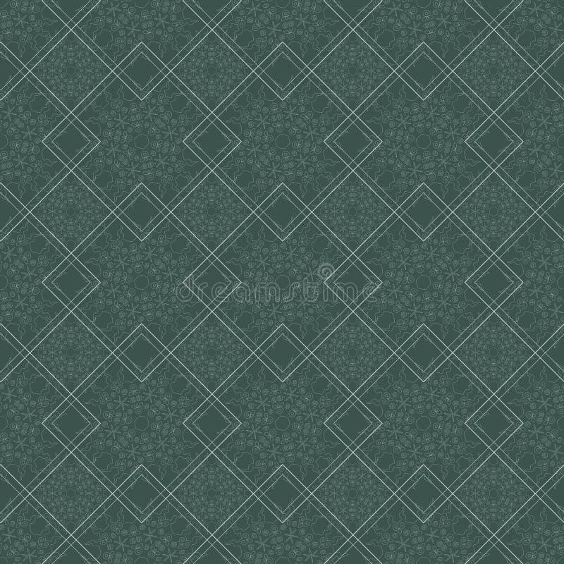 Modèle sans couture ornemental avec traditionnel illustration de vecteur