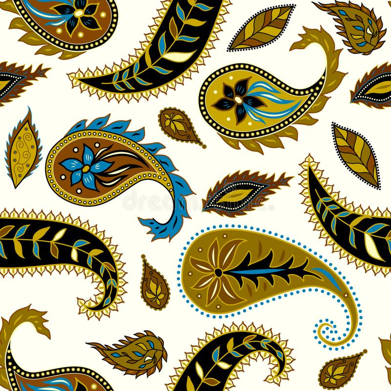 Modèle sans couture Paisley illustration stock