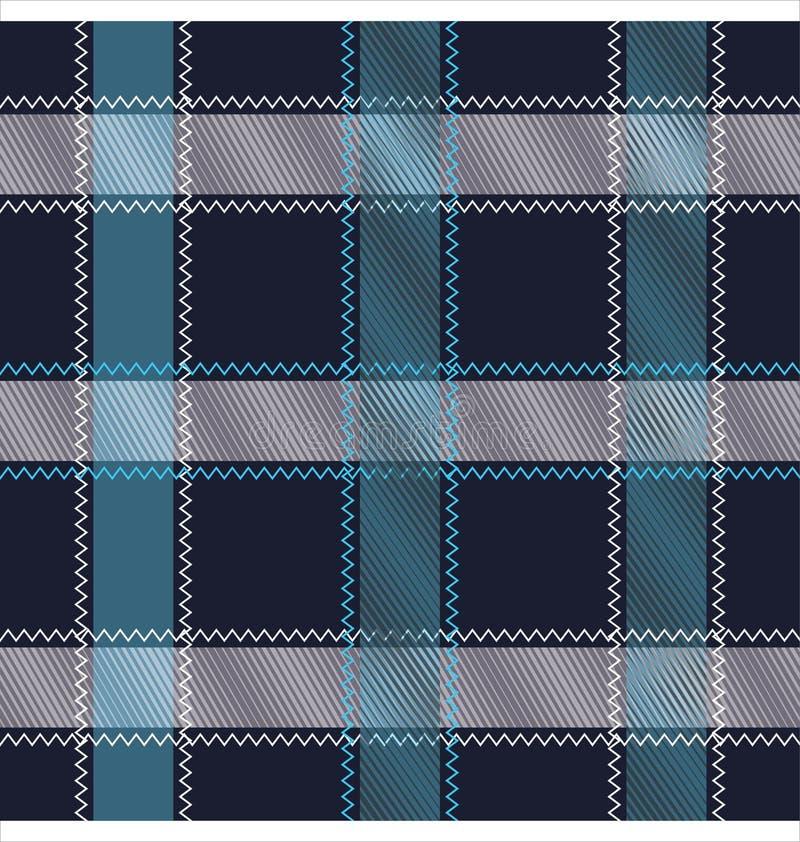 Modèle sans couture parttern de tartan/plaid/contrôle illustration de vecteur