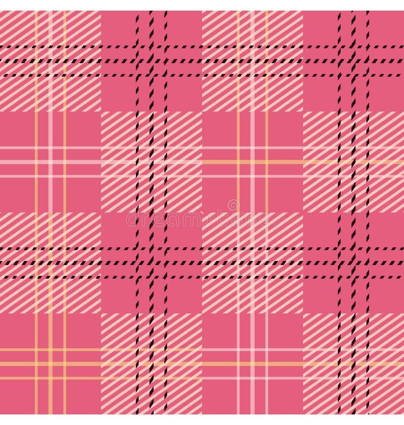 Modèle sans couture parttern de tartan/plaid/contrôle illustration stock