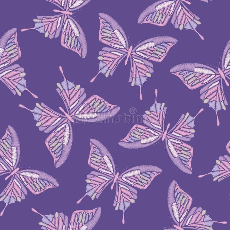 Modèle sans couture patternFloral sans couture floral Pensées avec des camomilles sur le fond bleu de point de polka Illustration illustration stock