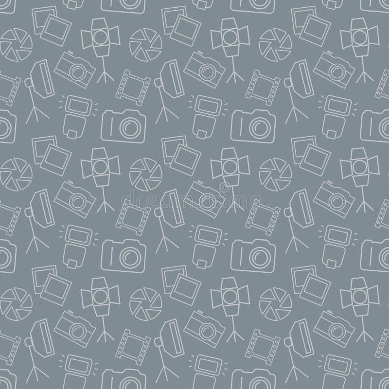 Modèle sans couture photographique Fond de vecteur illustration libre de droits