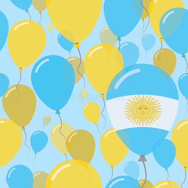 Modèle sans couture plat de jour national de l'Argentine illustration libre de droits
