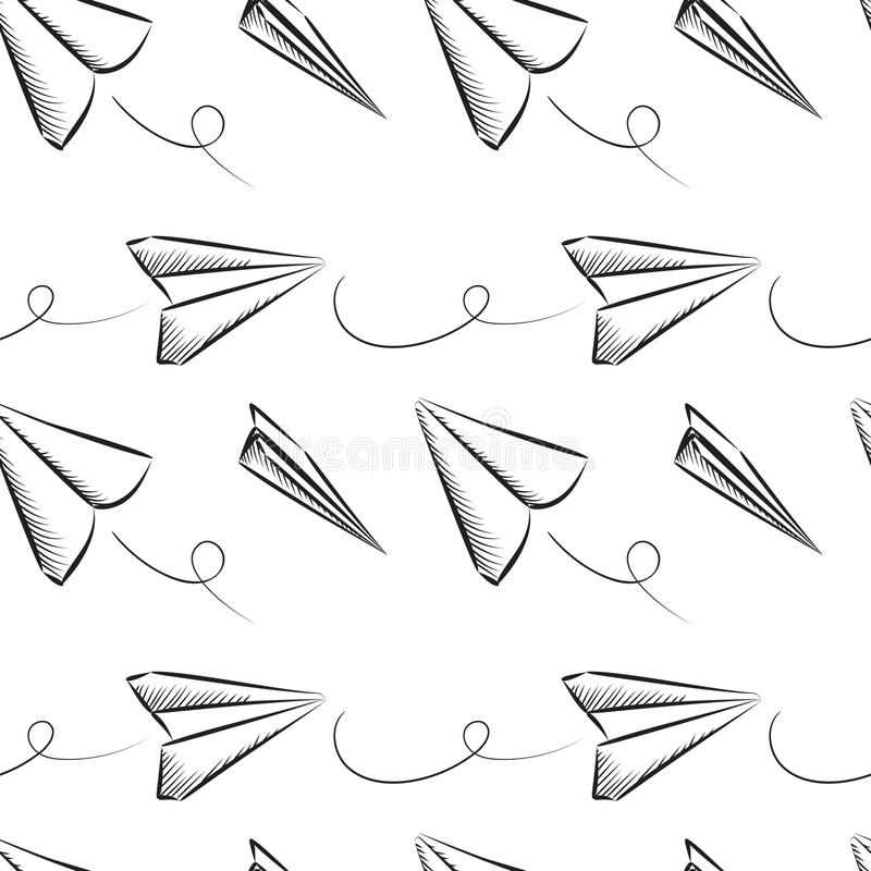 Modèle sans couture plat de papier illustration de vecteur