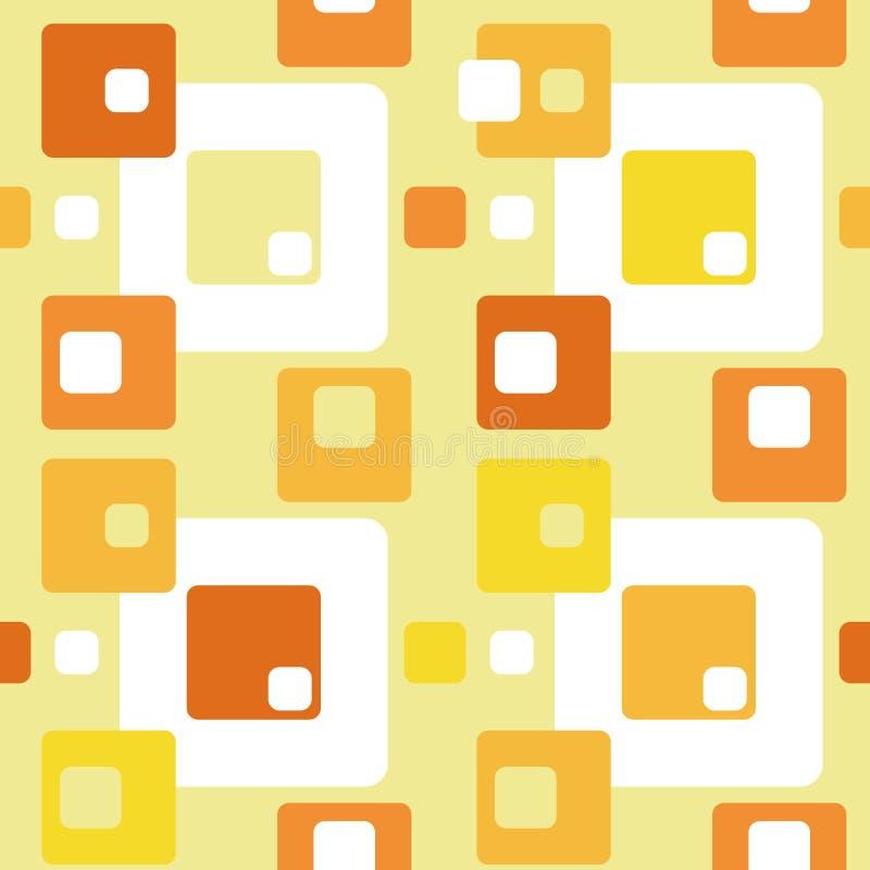 Modèle sans couture plat de résumé rétro avec des rectangles Ornement simple intemporel de vecteur illustration de vecteur