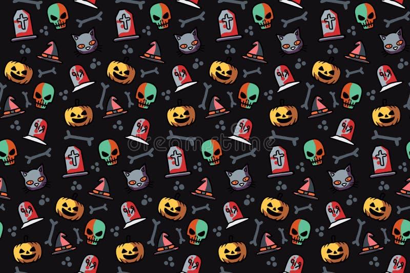 Modèle sans couture pour la conception de Halloween illustration de vecteur