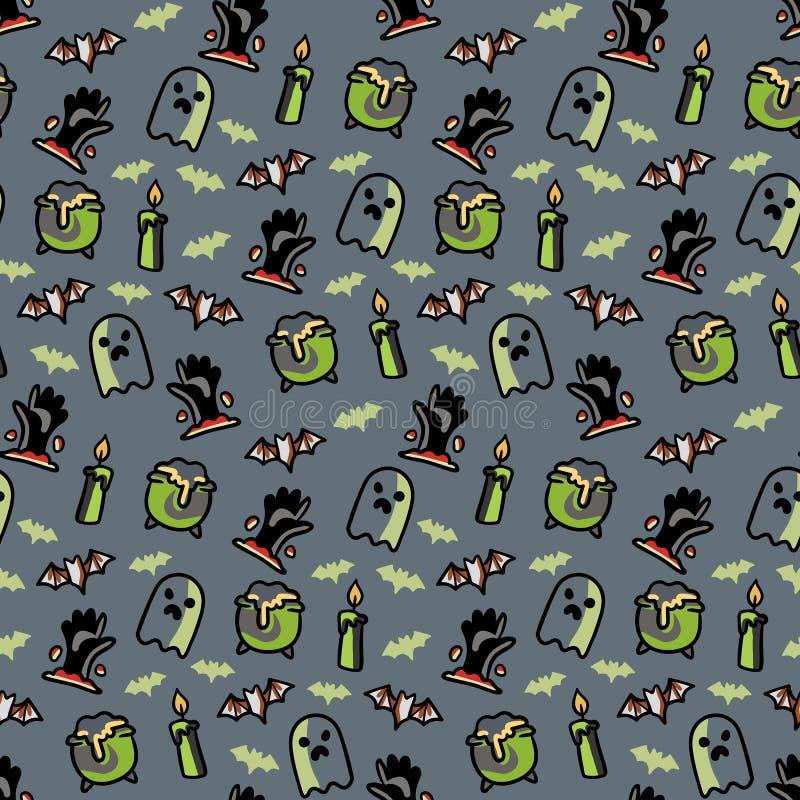 Modèle sans couture pour la conception de Halloween illustration libre de droits