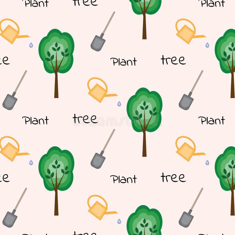 Modèle sans couture pour la journée de l'arbre illustration de vecteur