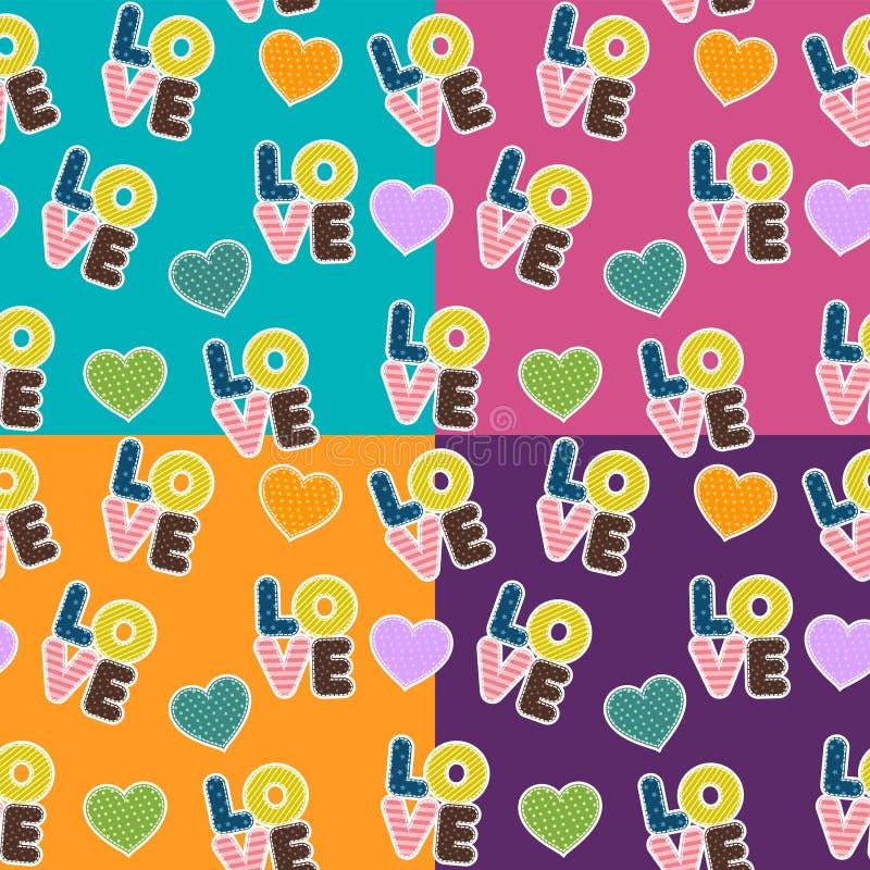 Modèle sans couture pour le jour de Valentine S illustration libre de droits