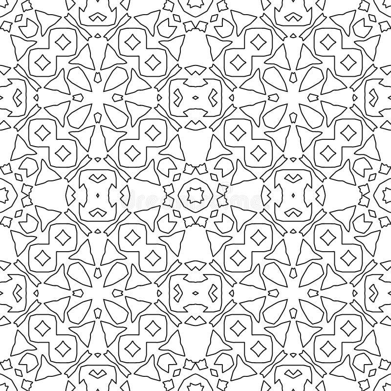 Modèle sans couture psychédélique pour la relaxation Page de livre de coloration illustration de vecteur