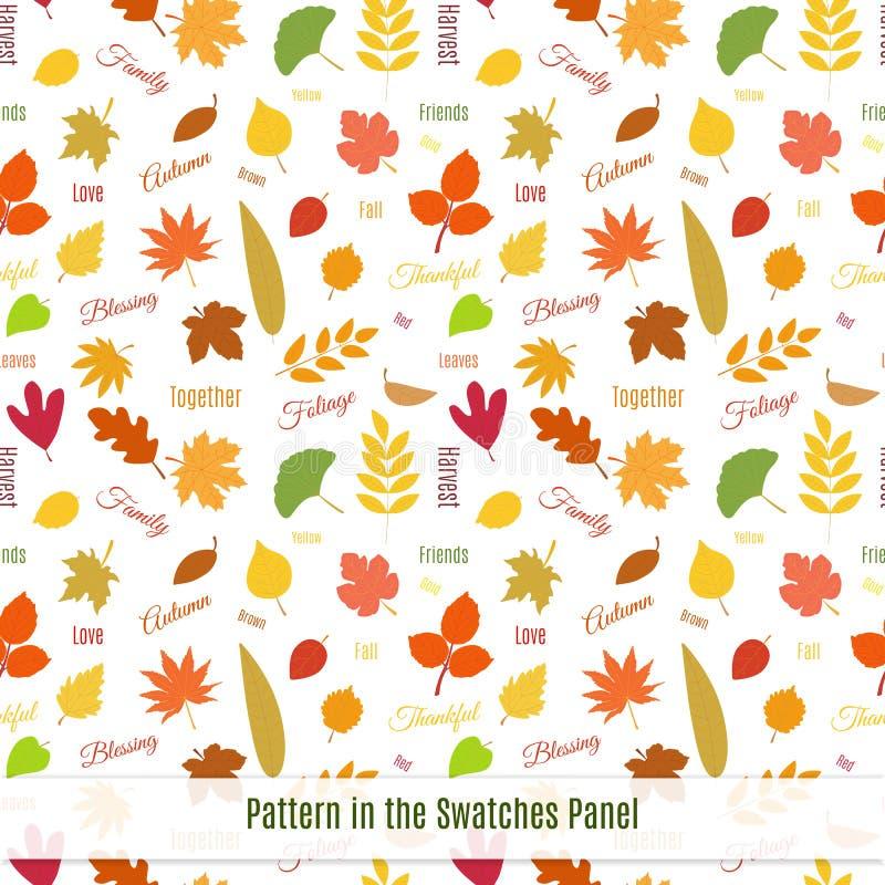 Modèle sans couture réaliste de feuilles d'automne illustration libre de droits