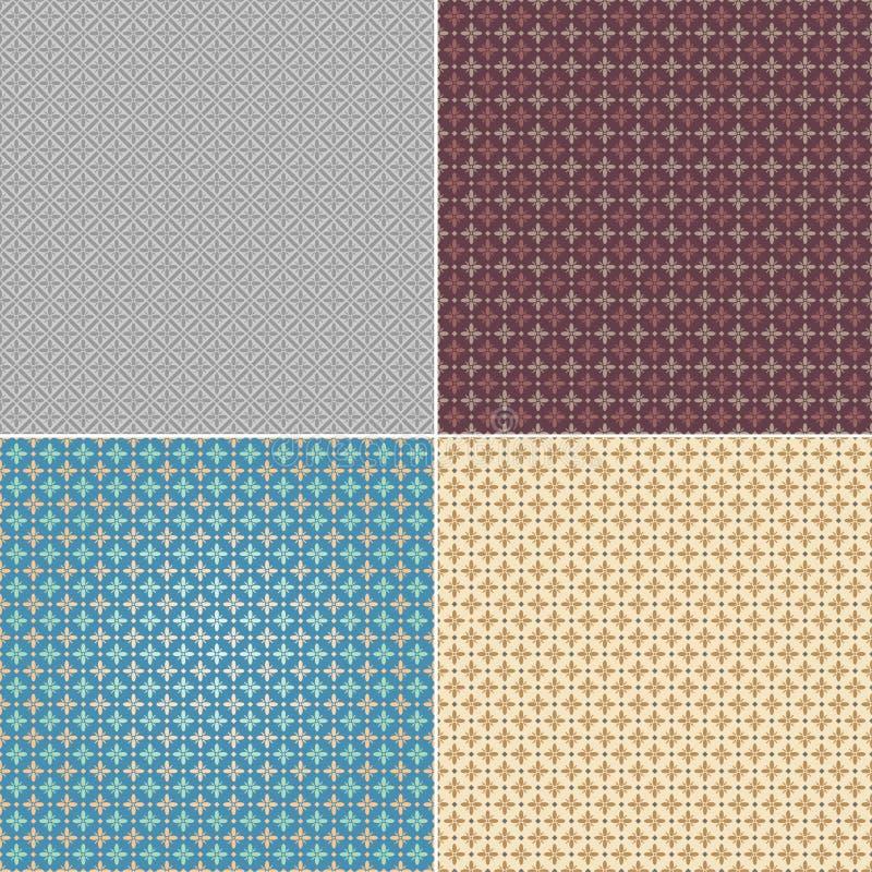 Modèle sans couture réglé de papier peint illustration stock