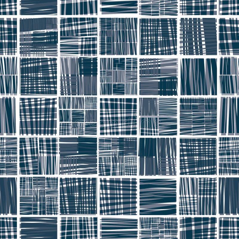 Modèle sans couture rayé de textile illustration de vecteur