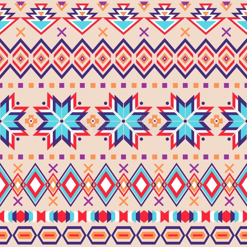 Modèle sans couture rayé ethnique illustration stock