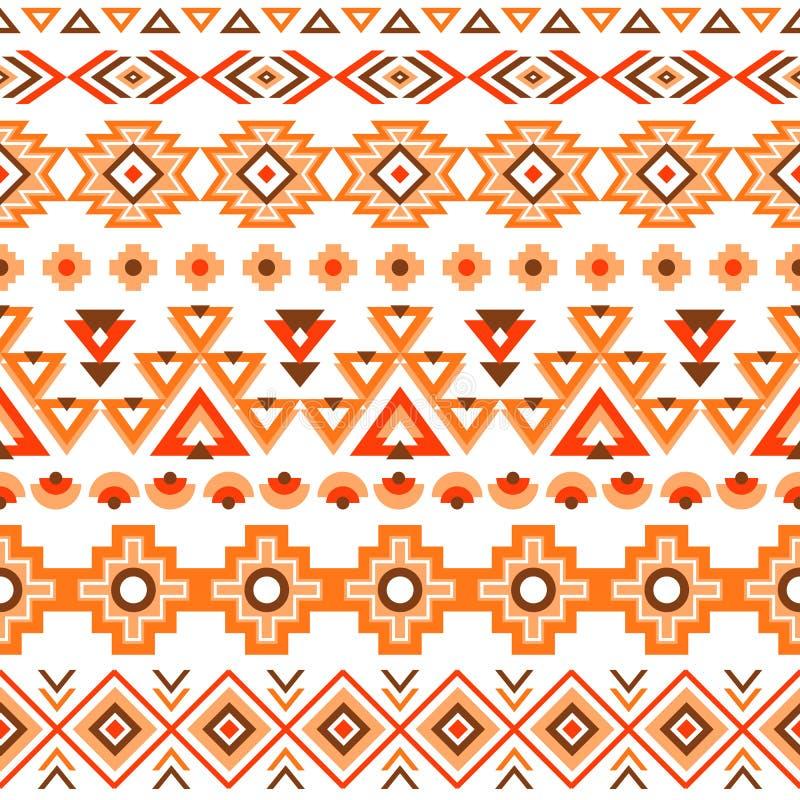 Modèle sans couture rayé ethnique illustration de vecteur