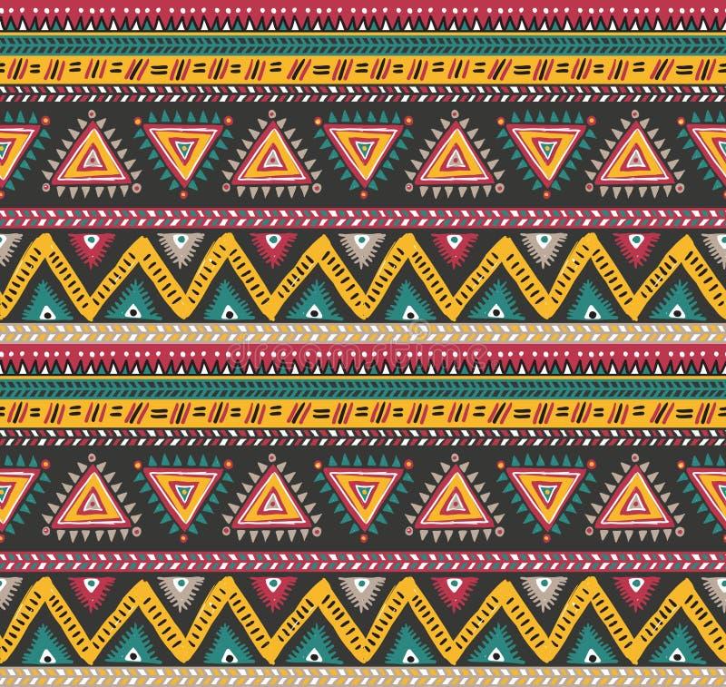 Modèle sans couture rayé tribal de vecteur illustration de vecteur