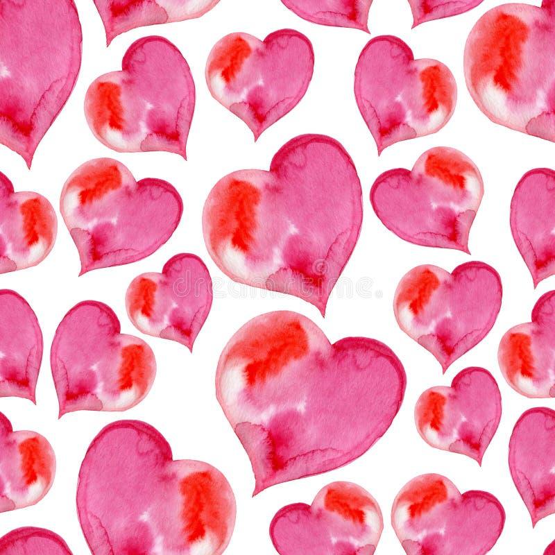 Download Modèle Sans Couture Rose Des Coeurs Pour Valentine Illustration Stock - Illustration du chic, décoratif: 77158325