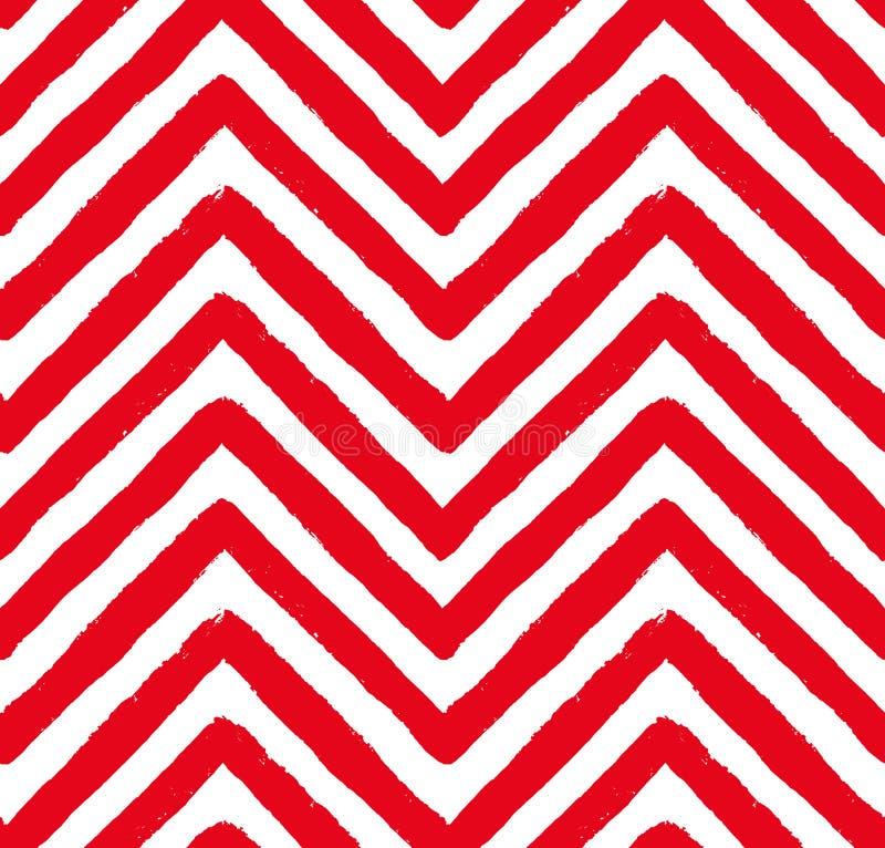 Modèle sans couture rouge de Chevron de vecteur illustration libre de droits