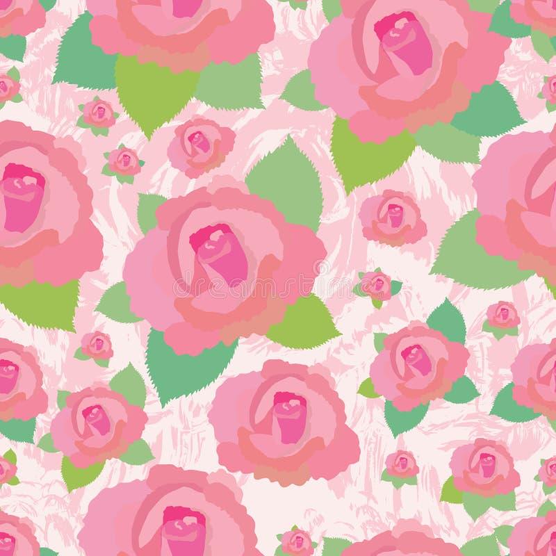 Modèle sans couture sale de Rose illustration de vecteur