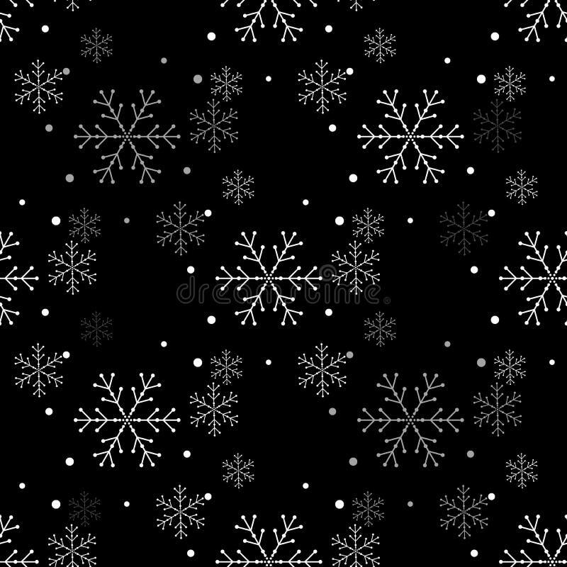 Modèle sans couture simple de flocon de neige Papier peint abstrait, enveloppant la décoration Symbole de l'hiver, vacances de Jo illustration libre de droits
