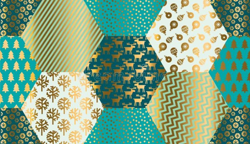 Modèle sans couture simple de Noël d'hiver illustration de vecteur
