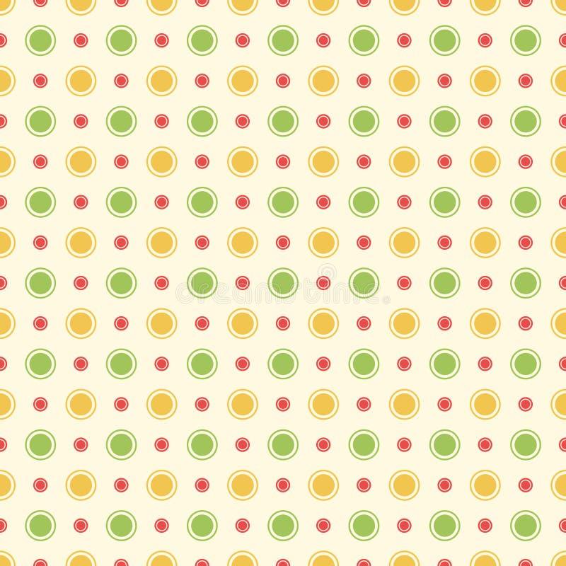 Modèle sans couture simple de points de polka illustration de vecteur