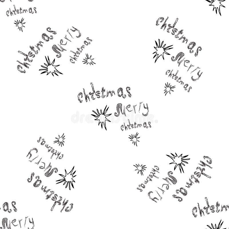 Modèle sans couture simple pendant la nouvelle année marquant avec des lettres le texte de Joyeux Noël images libres de droits