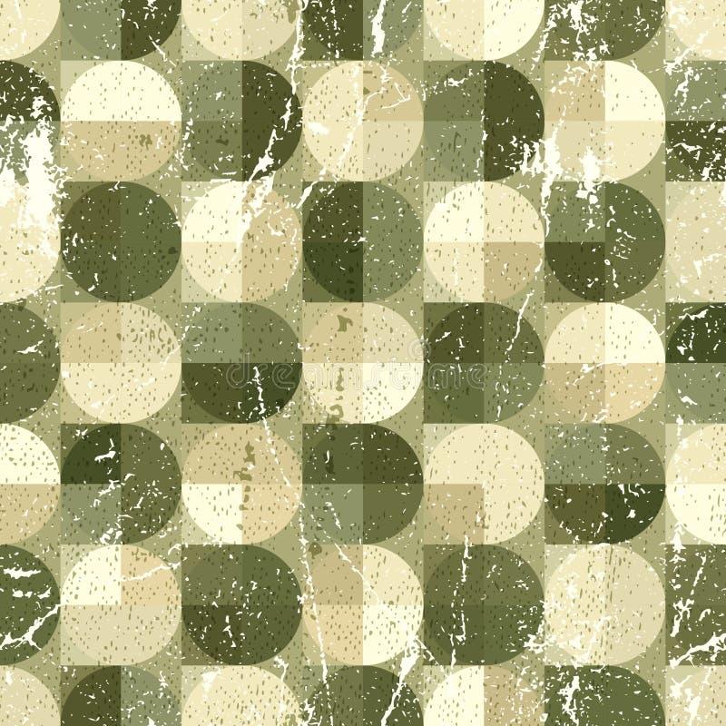 Modèle sans couture sphérique géométrique, abstrac d'ornamental de vintage illustration stock