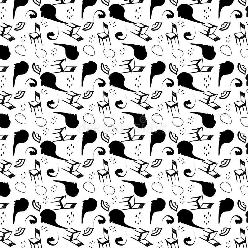 Modèle sans couture stylisé de surréalisme illustration stock