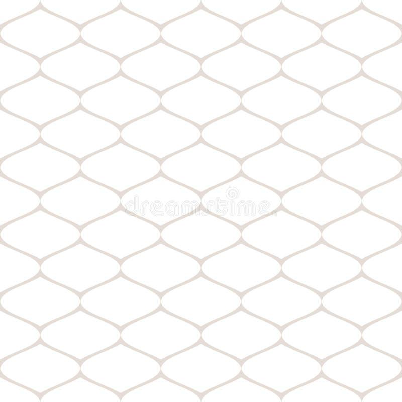 Modèle sans couture subtil de maille, trellis, grille, filet, tissu, dentelle, filet, fil illustration stock