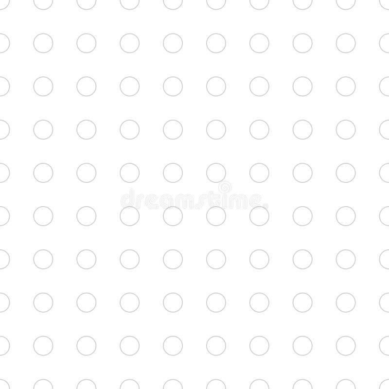 Modèle sans couture subtil de vecteur fait avec les cercles élégants photos libres de droits