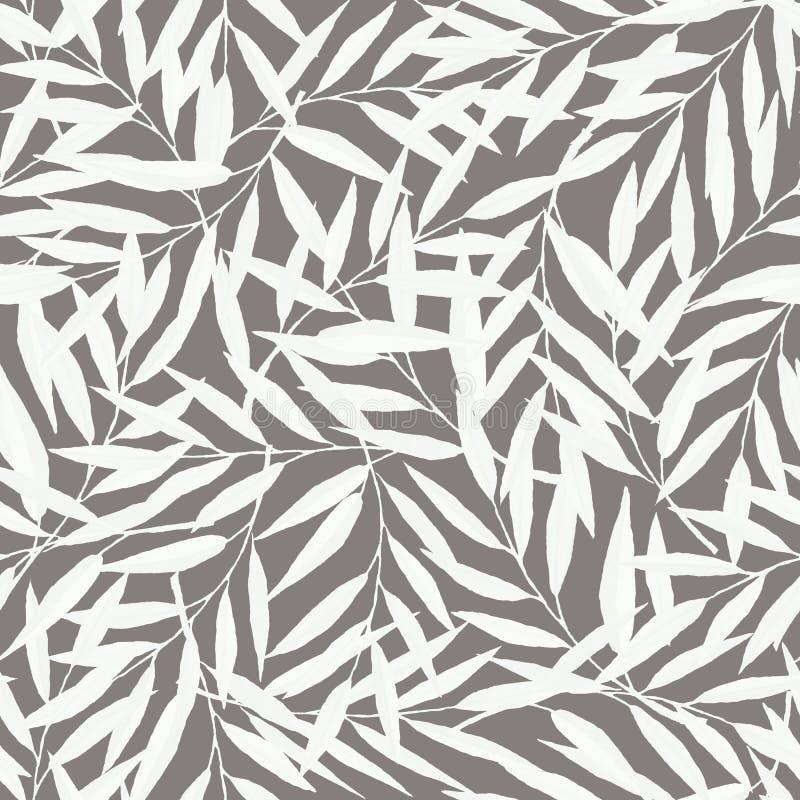 Modèle sans couture tiré par la main avec des branches illustration de vecteur