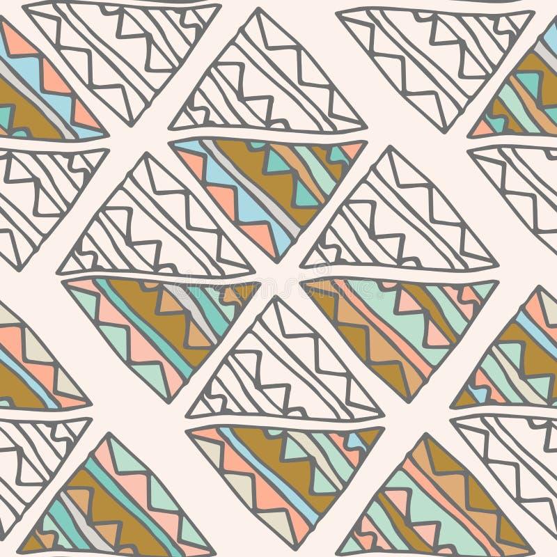 Download Modèle Sans Couture Tiré Par La Main Tribal Illustration de Vecteur - Illustration du tapis, vert: 77161392