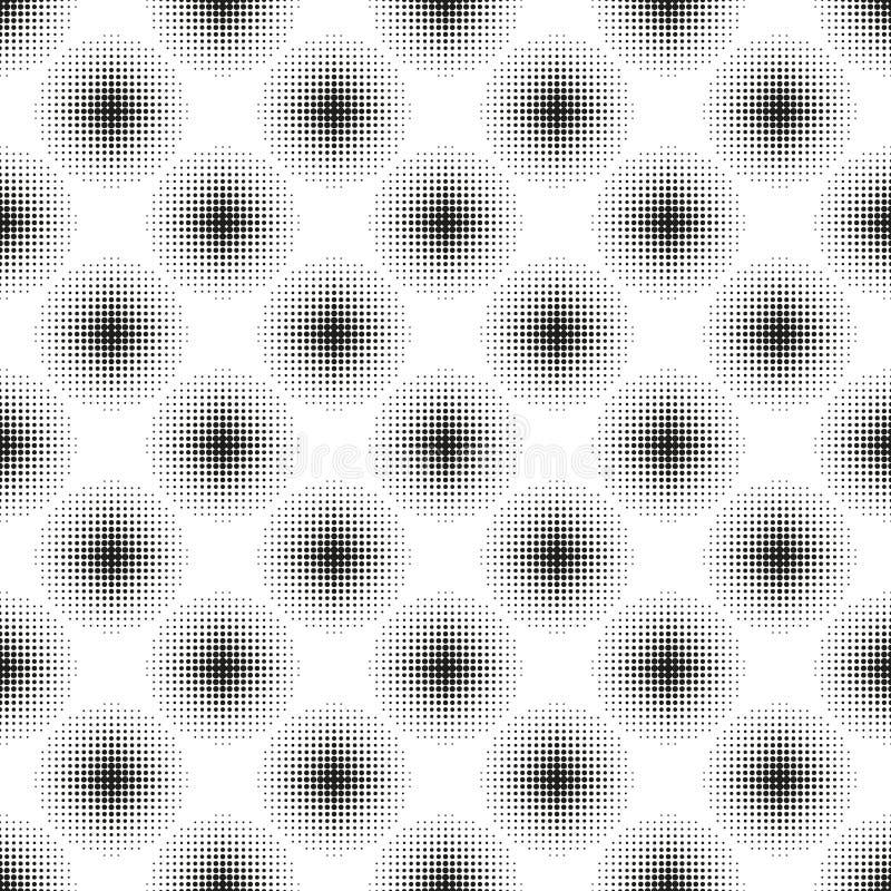 Modèle sans couture tramé avec les cercles pointillés illustration stock