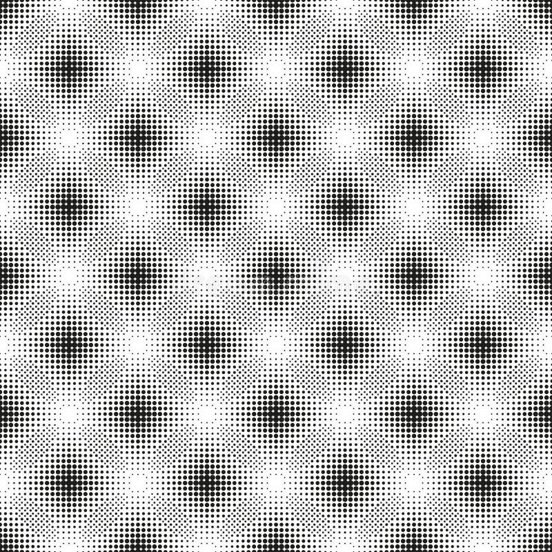 Modèle sans couture tramé avec les cercles pointillés illustration de vecteur