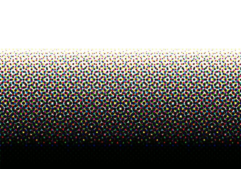 Modèle sans couture tramé de CMYK illustration stock