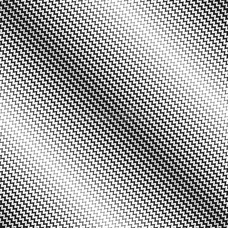Modèle sans couture tramé de vecteur Lignes diagonales de zigzag illustration stock
