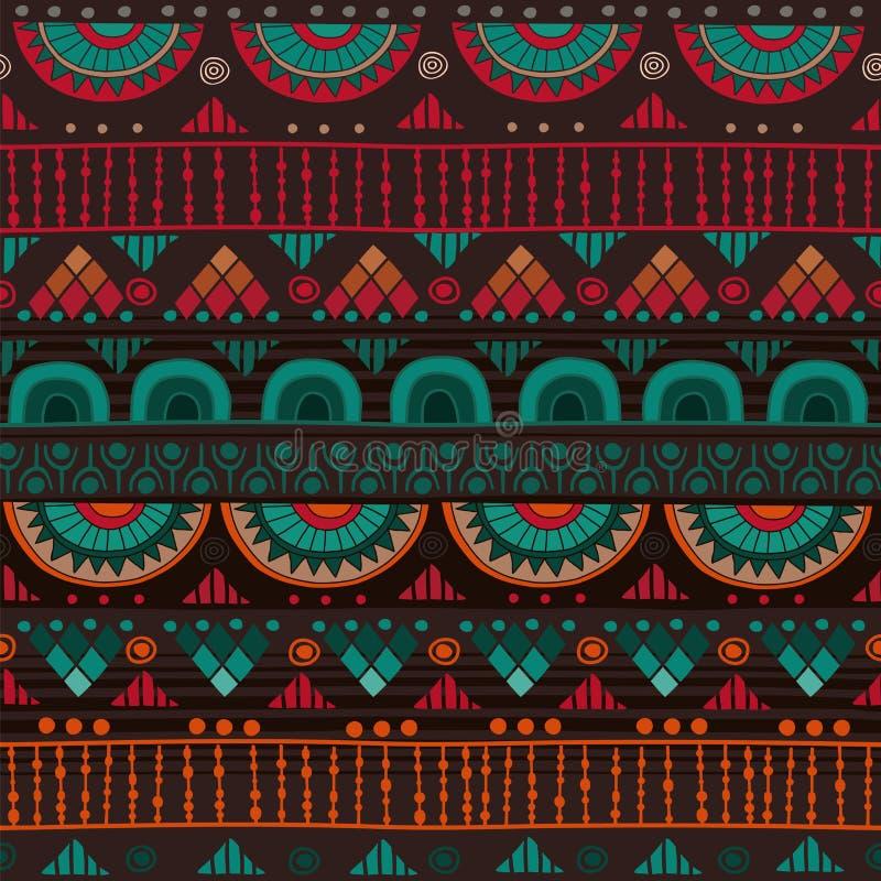 Modèle sans couture tribal images stock