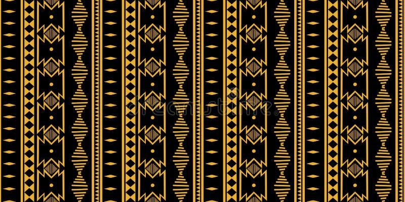 Modèle sans couture tribal Cru traditionnel décoratif d'impression africain Fond abstrait coloré Vecteur tiré par la main illustration stock
