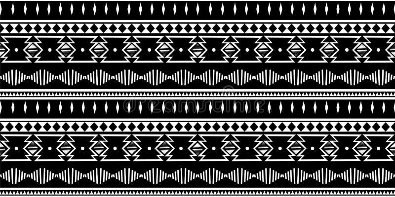 Modèle sans couture tribal Cru traditionnel décoratif d'impression africain Fond abstrait coloré Vecteur tiré par la main illustration libre de droits