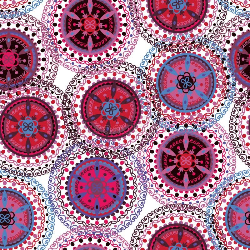 Modèle sans couture tribal de Boho illustration de vecteur